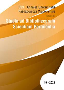 Annales Universitatis Paedagogicae Cracoviensis Studia ad Bibliothecarum Scientiam Pertinentia